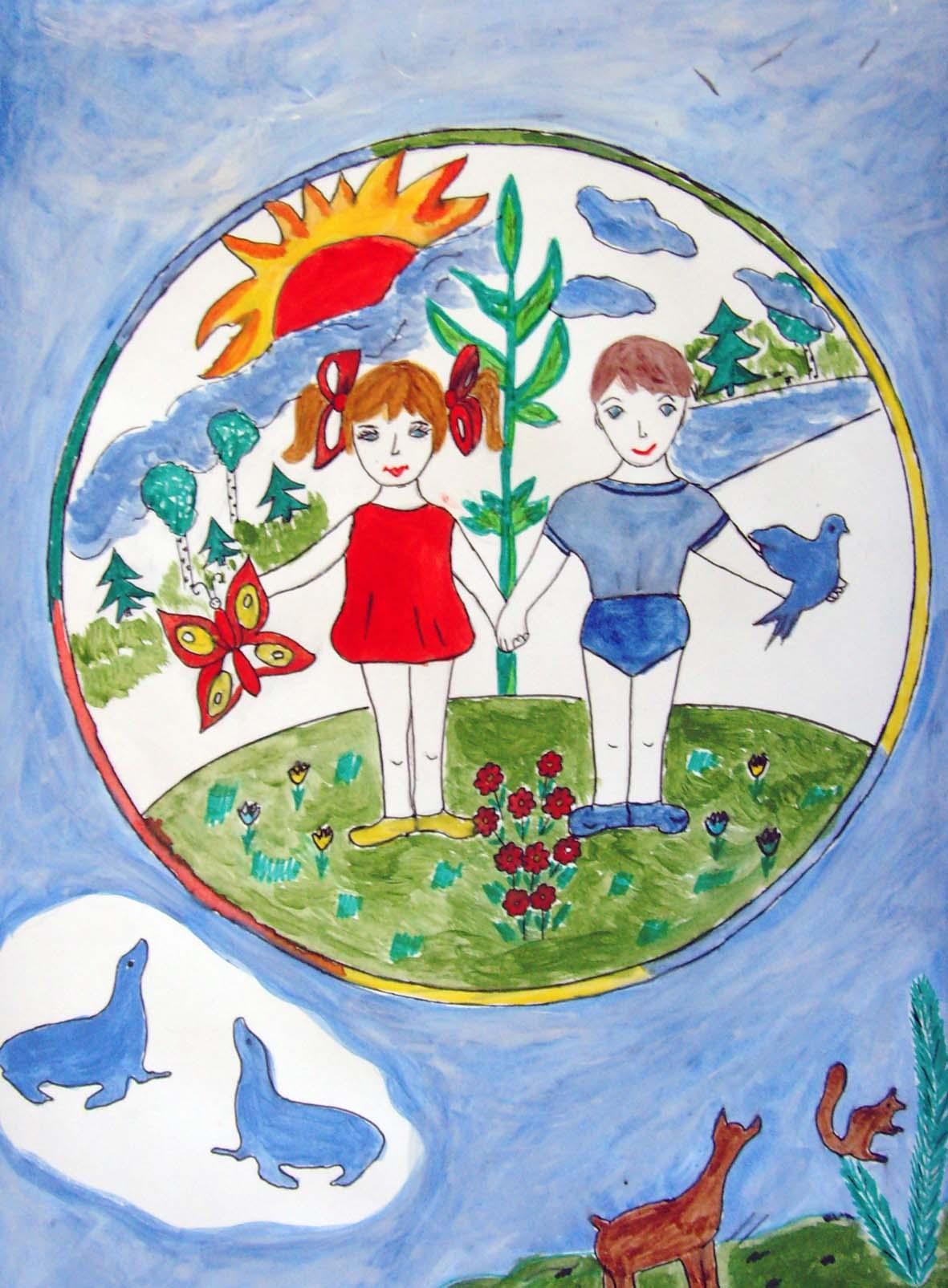 Зеленая планета рисунки детей 2