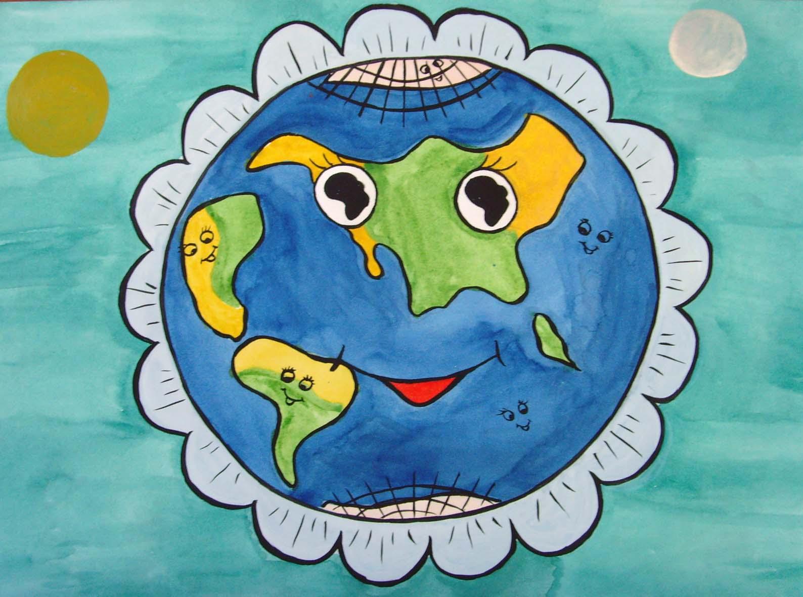 Поделка планета глазами детей
